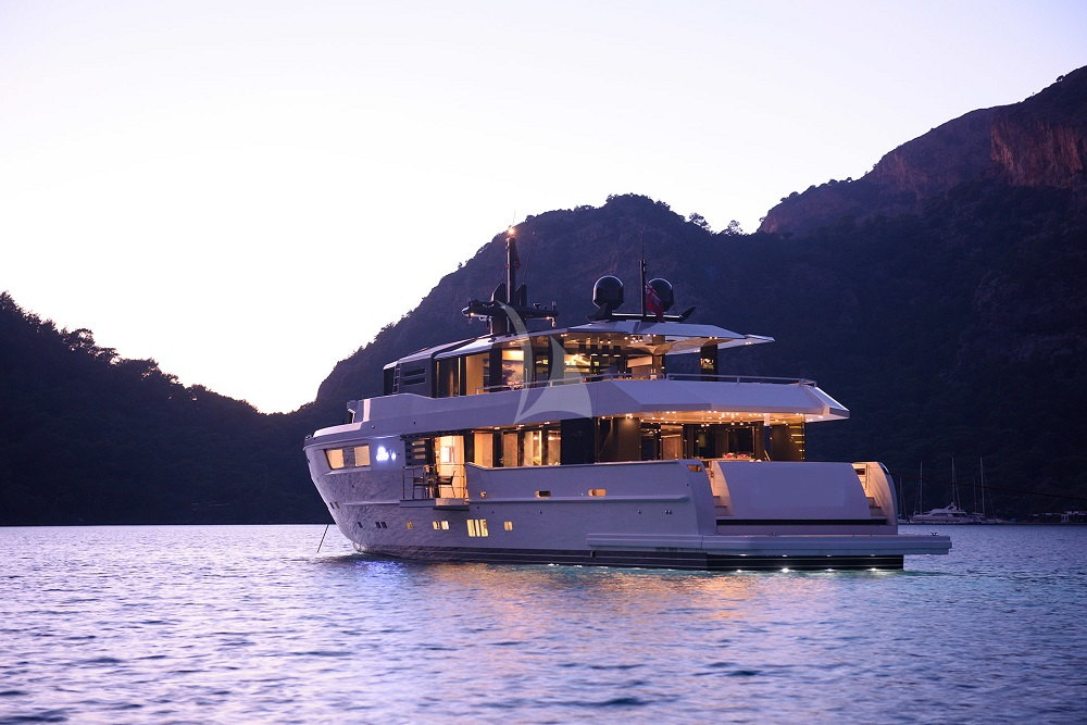 Arcadia-yacht-charter-35m-exterior-night