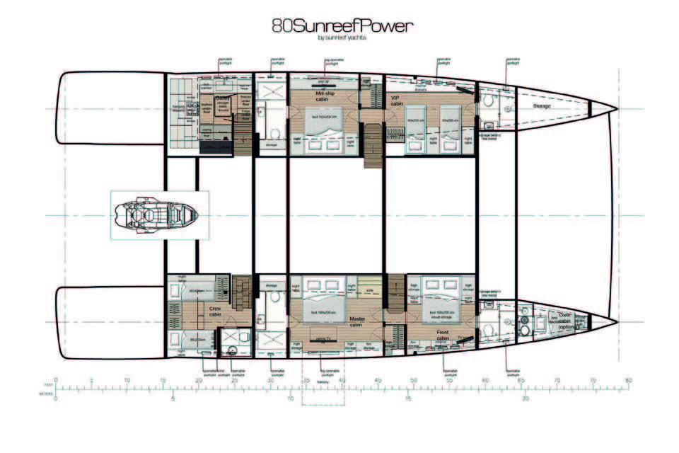 _80 Sunreef Power-catamaran-layout