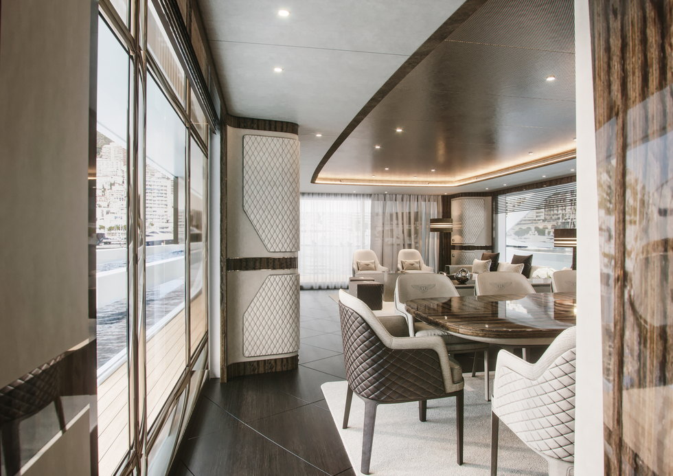 yacht-Dynamiq-G_350-35-dining-area-bentley-interior