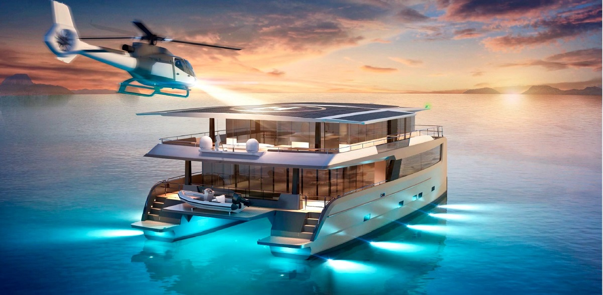 Silent-yacht-Catamaran-80-Explorer-with-helicopter