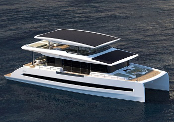 Silent 3-deck catamaran 80 open